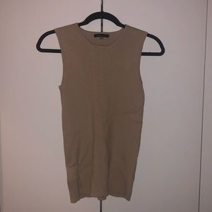 Neutral Ribbed Tommy Hilfiger Tank